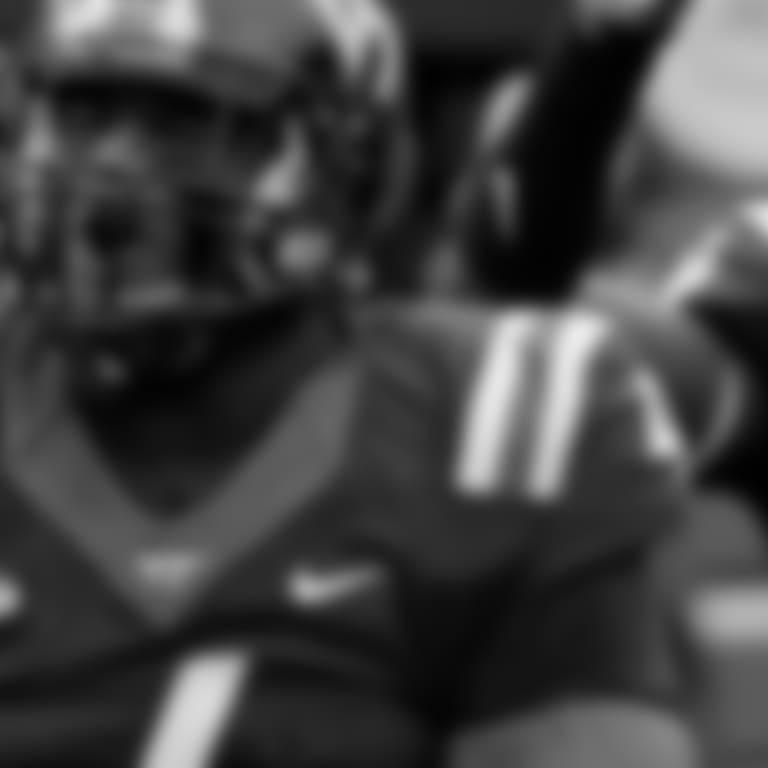Virginia Tech's Tim Settle, left, reacts after sacking Georgia Tech quarterback TaQuon Marshall in the second quarter of an NCAA college football game in Atlanta, Saturday, Nov. 11, 2017. (AP Photo/David Goldman)