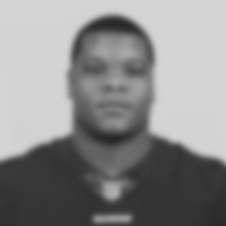 LSU tackle Saahdiq Charles poses for a headshot during the 2020 NFL Scouting Combine, Tuesday, Feb. 25, 2020 in Indianapolis. (Ben Liebenberg via AP)