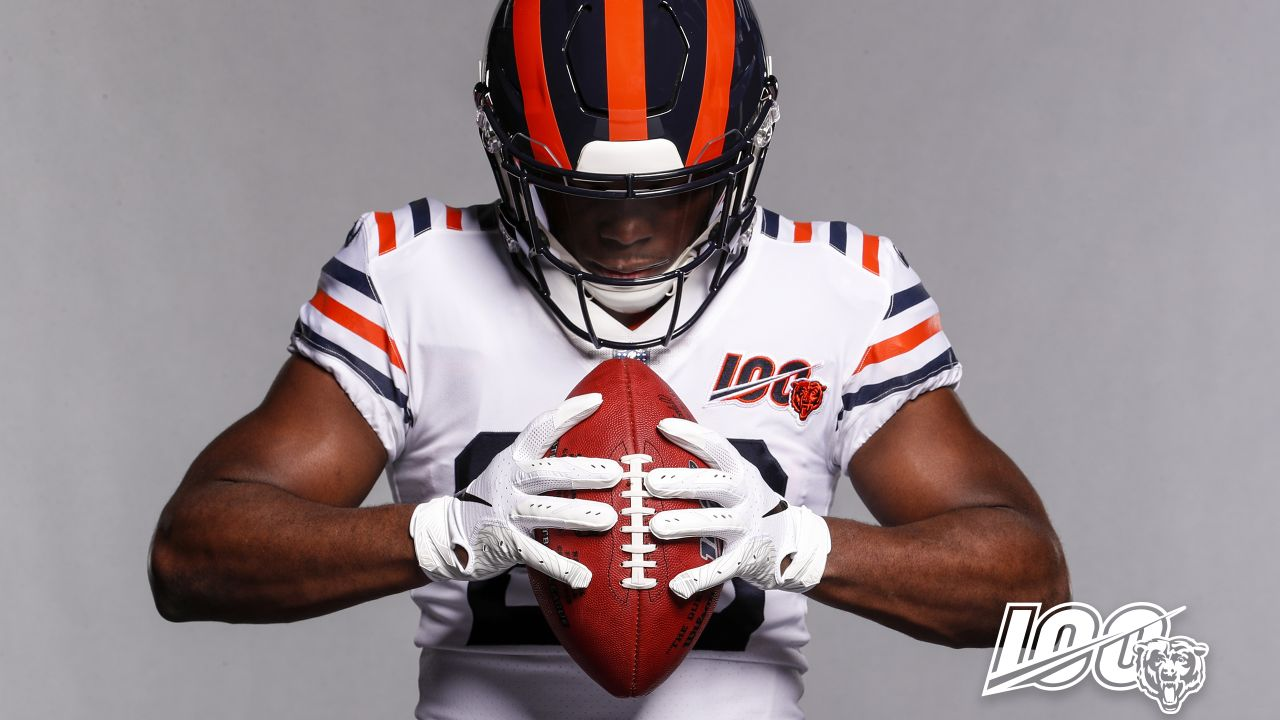 The Bears officially revealed the full classic uniform that will be worn twice during the 2019 season at Bears100 Celebration Weekend.