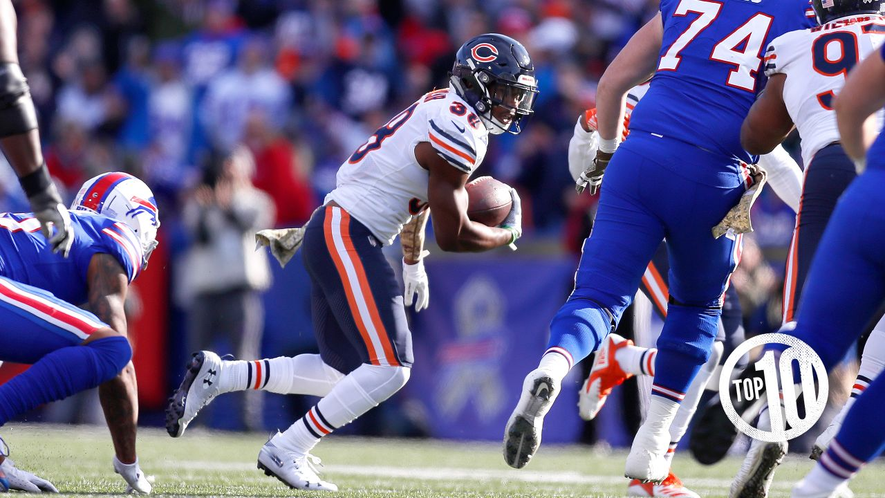 (10) Adrian Amos vs. Bills  Amos intercepted a Nathan Peterman pass that was deflected by Kyle Fuller in a 41-9 victory over the Bills in Buffalo.