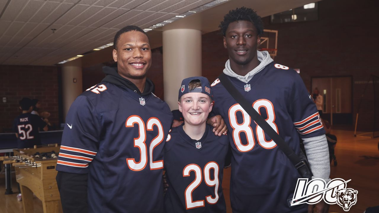 The Chicago Bears Rookie Class visits Shriners Hospital to visit with children, Monday, May 20, 2019, in Chicago, Illinois.