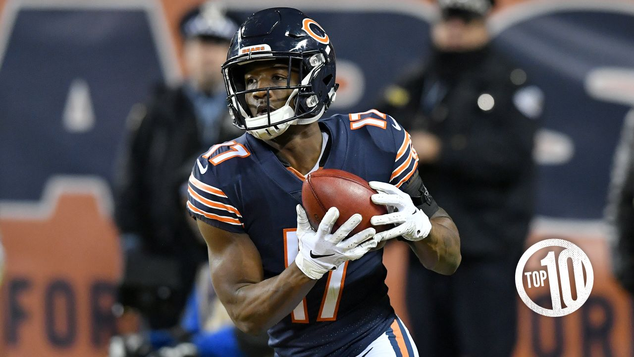 (10t) Anthony Miller  The Bears traded up in the second round to select Miller, and the rookie receiver didn't disappoint, leading the team with seven TD receptions.