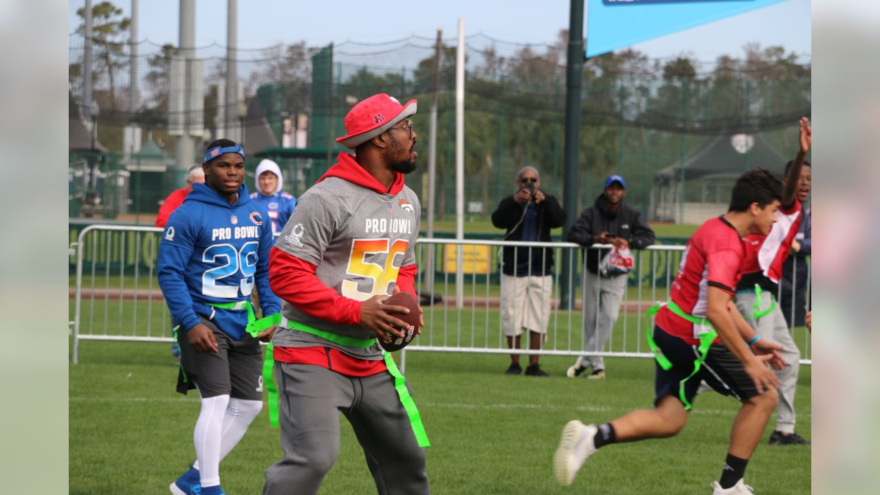 15505b48eaa Von Miller takes part in a Special Olympics Unified Flag Football Game with  Special Olympics Florida