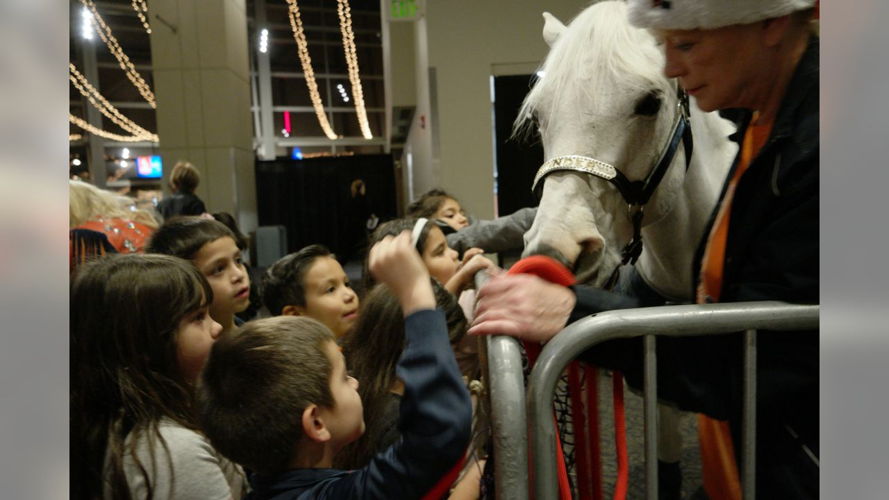 Thunder, the Broncos' live mascot, hosted a holiday party for 300 kids from Boys & Girls Clubs of Metro Denver on December 20, 2018 at Broncos Stadium at Mile High.