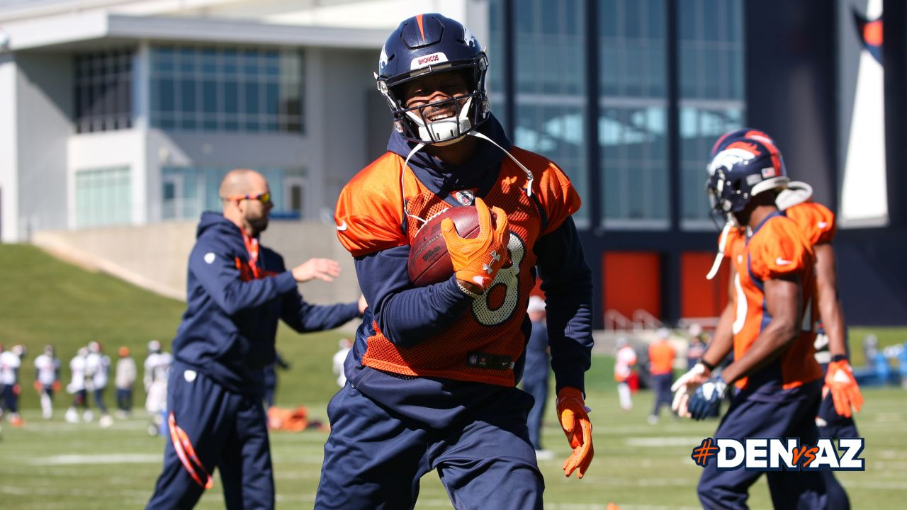 Demaryius Thomas at practice at UCHealth Training Center on October 16, 2018.