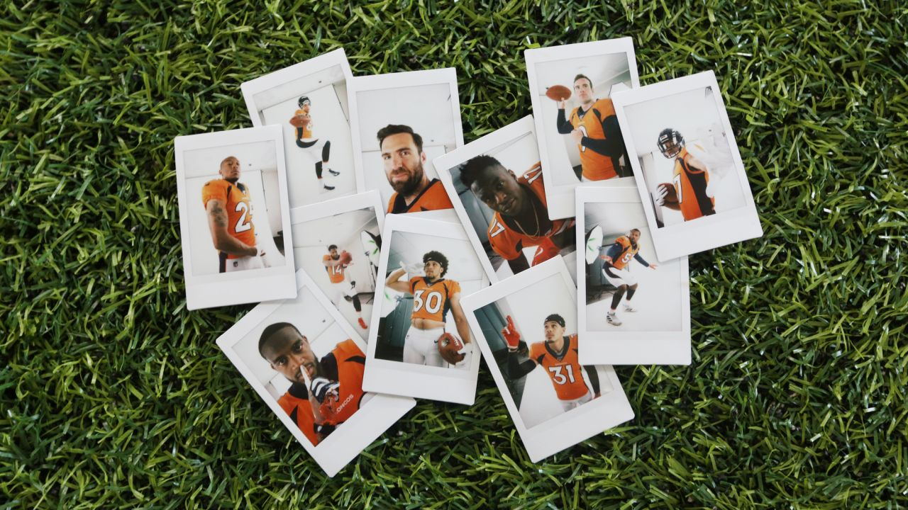 Instant film portraits taken during the Broncos' media day on June 4, 2019.