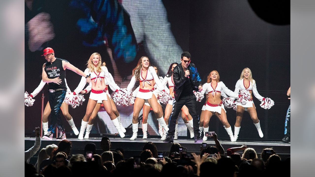 Cardinals Cheerleaders Perform With New Kids On The Block