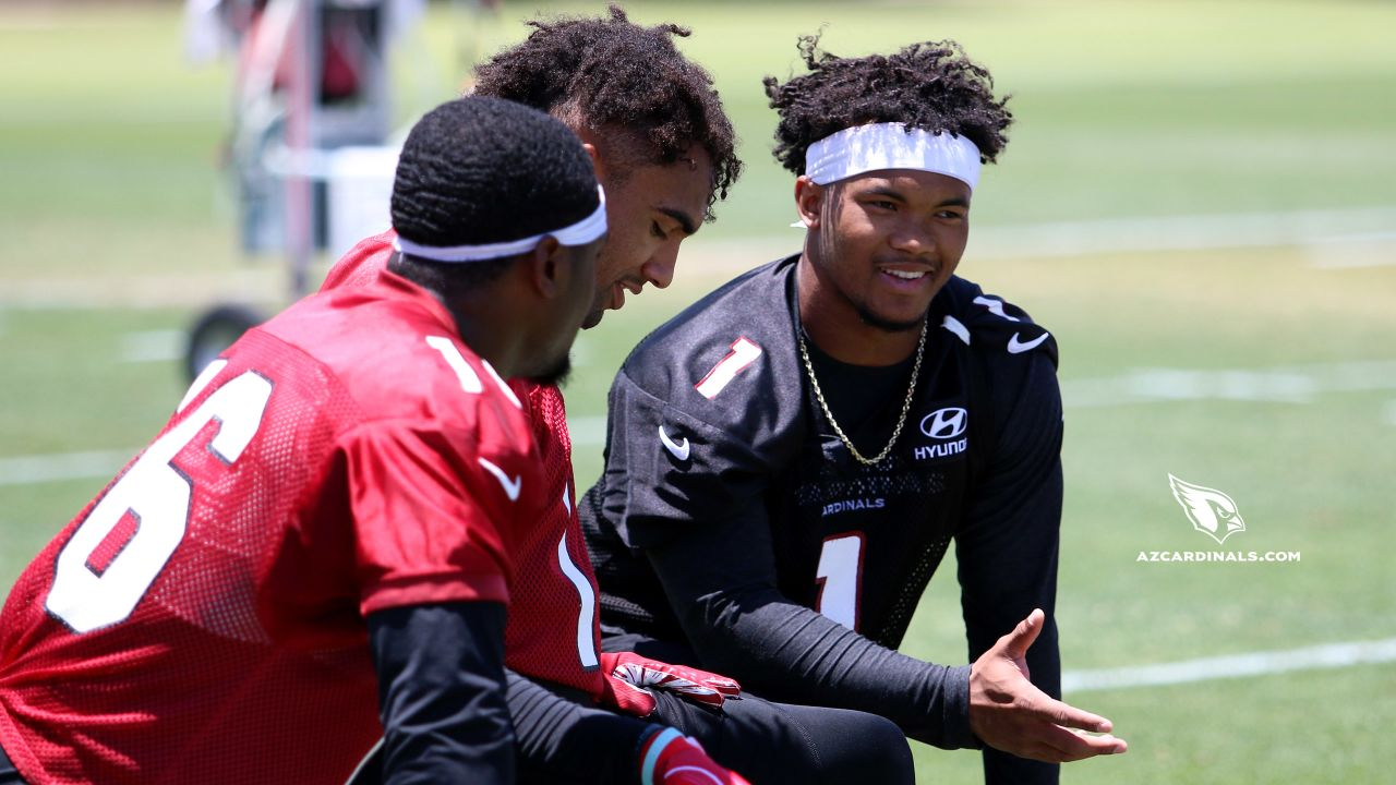 From right: QB Kyler Murray, WR Christian Kirk, WR Trent Sherfield