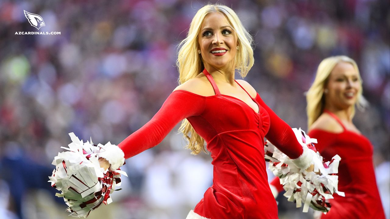Images of Cardinals cheerleader Melody from the 2018 season