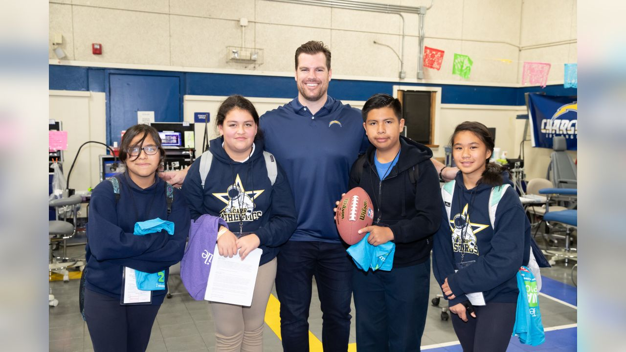 Los Angeles Chargers and Biolase participate in their second TeamSmile event at Carr Intermediate School on Friday, Jan 18, 2019 in Santa Ana, CA.