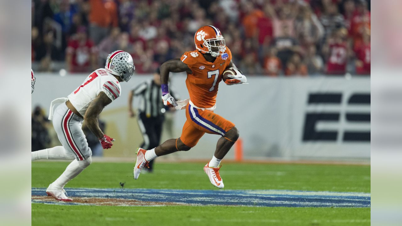 Clemson Tigers wide receiver Mike Williams (7) during the Fiesta Bowl NCAA college football playoff game against the Ohio State Buckeyes on Saturday, Dec. 31, 2016 in Glendale, Ariz. (Ric Tapia via AP)
