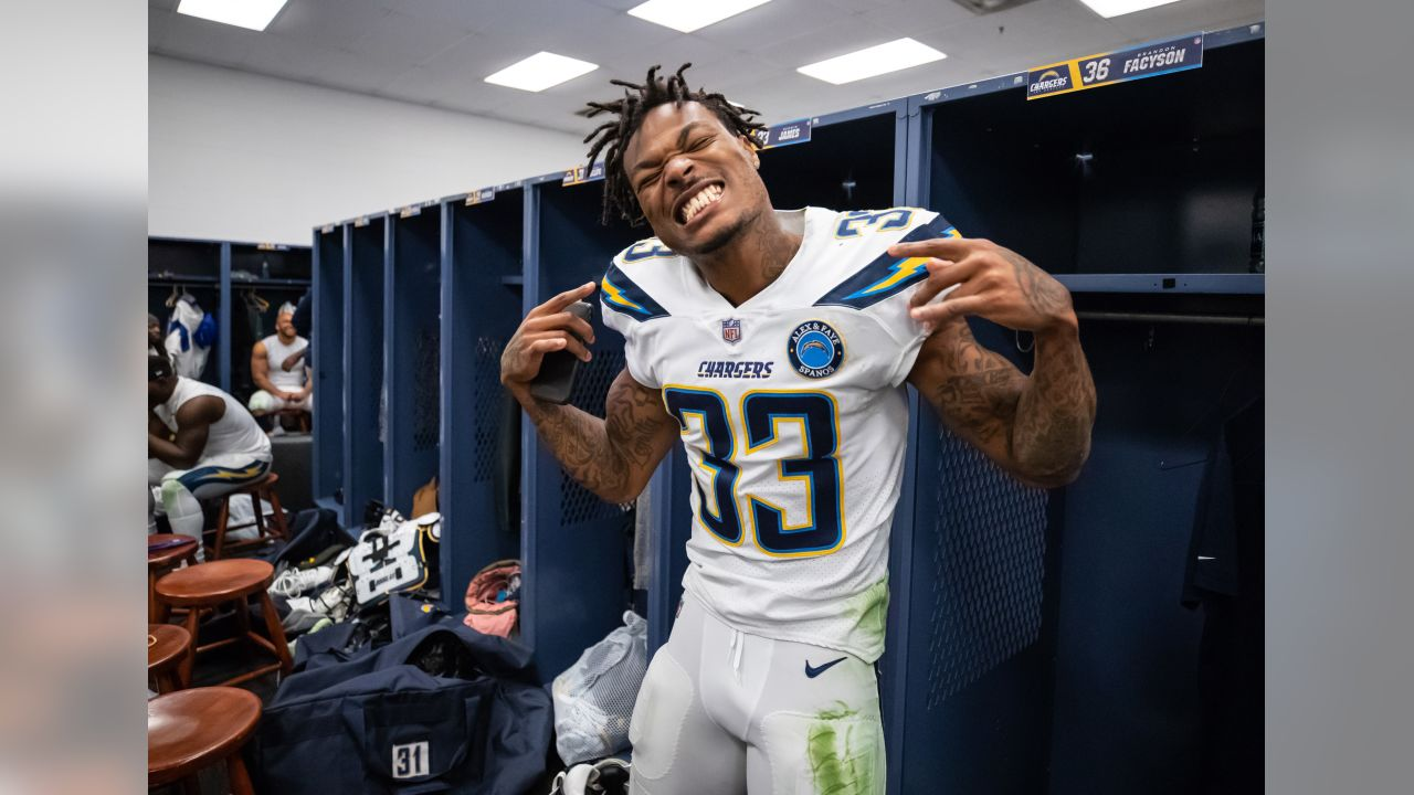 **#33 Derwin James Jr.**  The first-team All-Pro took the NFL by storm last season, becoming the first rookie in Chargers history to have over 100 tackles.