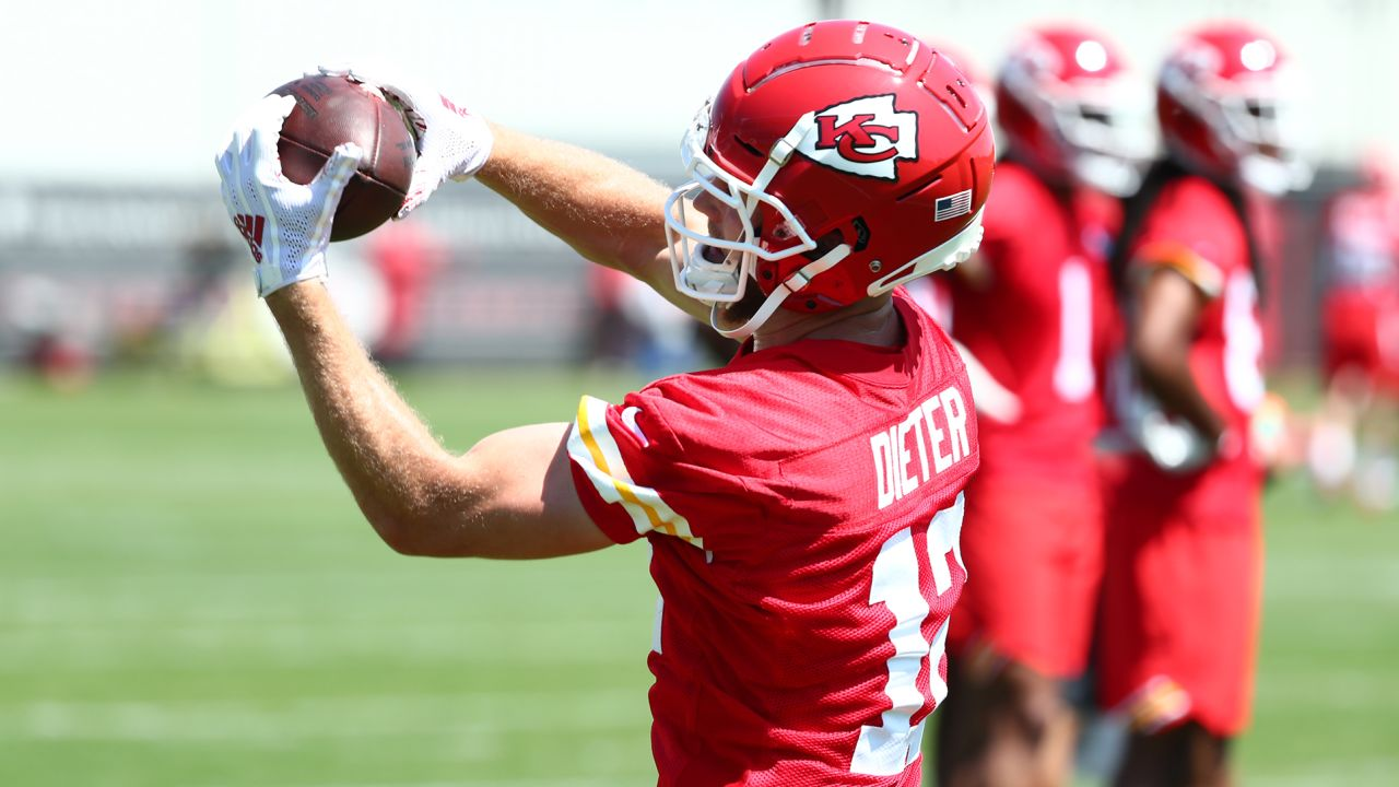 The Kansas City Chiefs participate in the eight practice of OTA''s.
