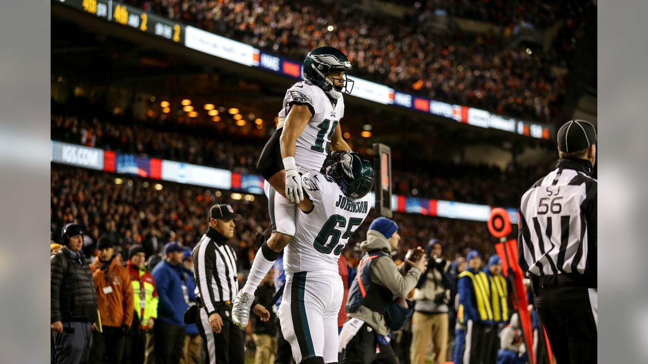 WR Golden Tate and OT Lane Johnson  Philadelphia Eagles vs. Chicago Bears at Soldier Field in Chicago on January 6, 2019
