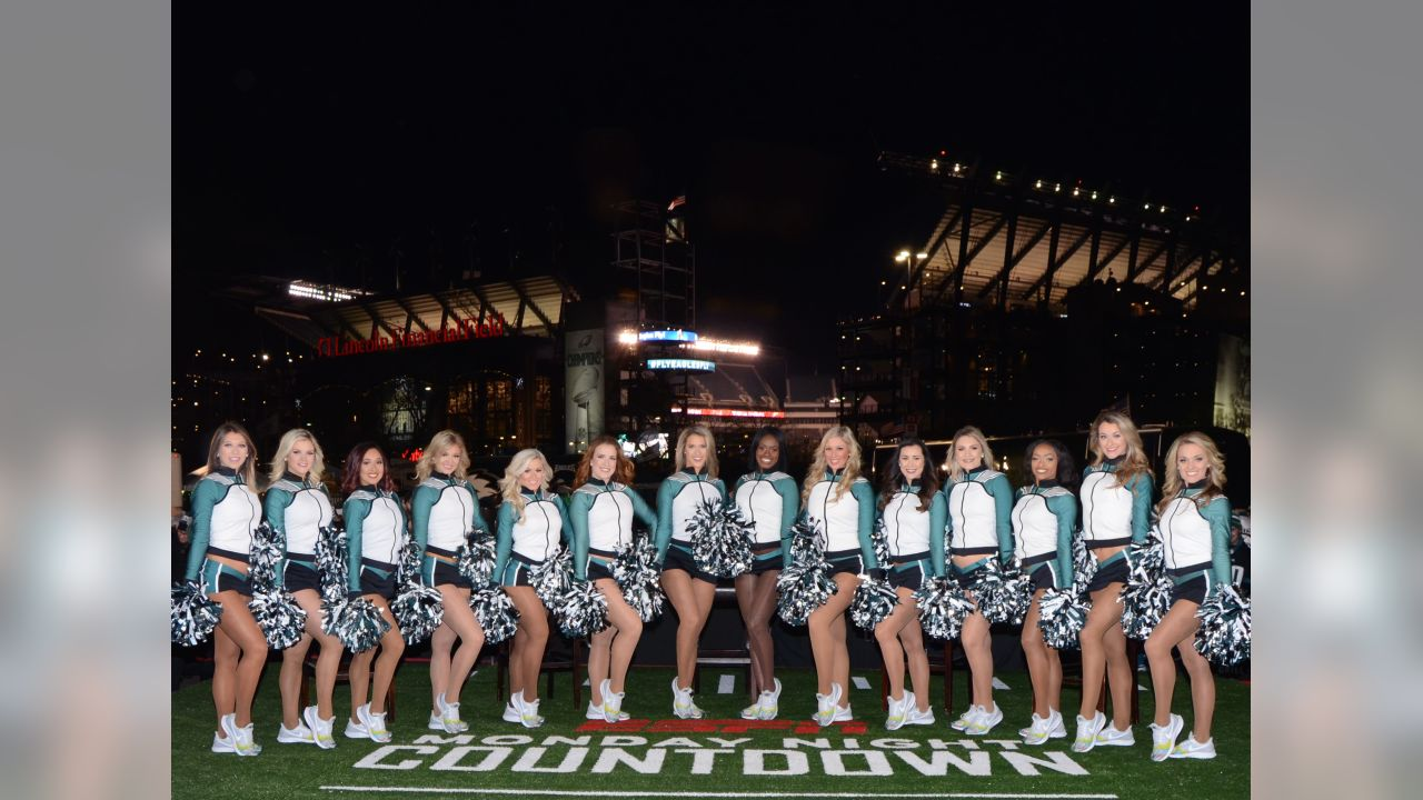 The cheerleaders appeared on ESPN's Monday Night Countdown prior to kickoff