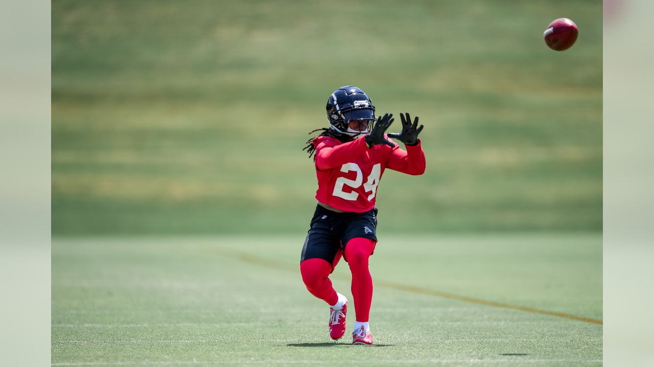 May 29, 2019 - RB Devonta Freeman during OTA's at Atlanta Falcons Training Camp in Flowery Branch, GA.