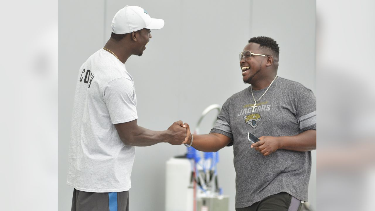 Jacksonville Jaguars linebacker Telvin Smith holds a football camp Tuesday July 24, 2018 at the Dream Finders Home's Flex Field at Daily's Place in Jacksonville, Fl.  (Rick Wilson/Jacksonville Jaguars)