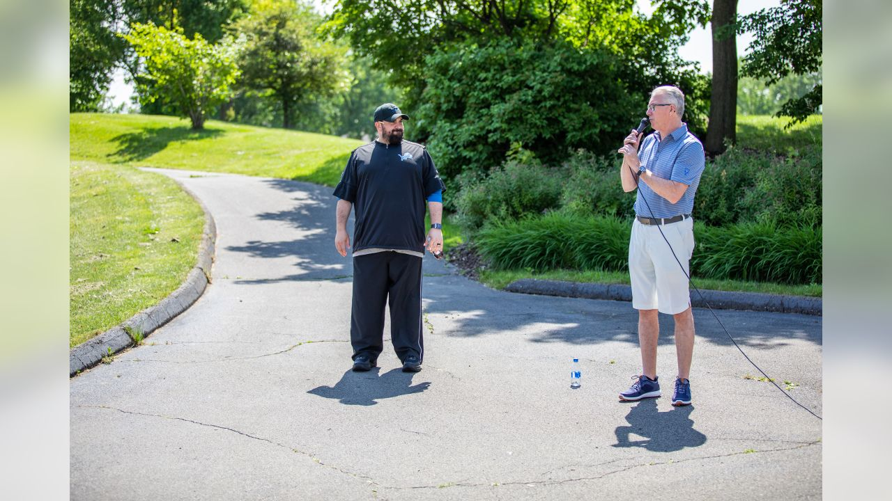 Detroit Lions team president Rod Wood and Detroit Lions head coach Matt Patricia during the 2019 Detroit Lions golf outing at TPC Michigan on Wednesday, June 12, 2019 in Dearborn, Mich.