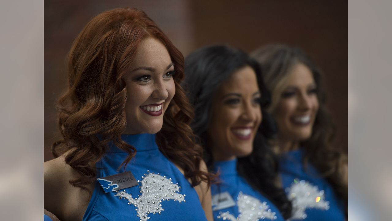 Detroit Lions Cheerleaders during a NFL football game between the Detroit Lions and the Chicago Bears on Thursday, Nov. 22, 2018 in Detroit. (Detroit Lions via AP).