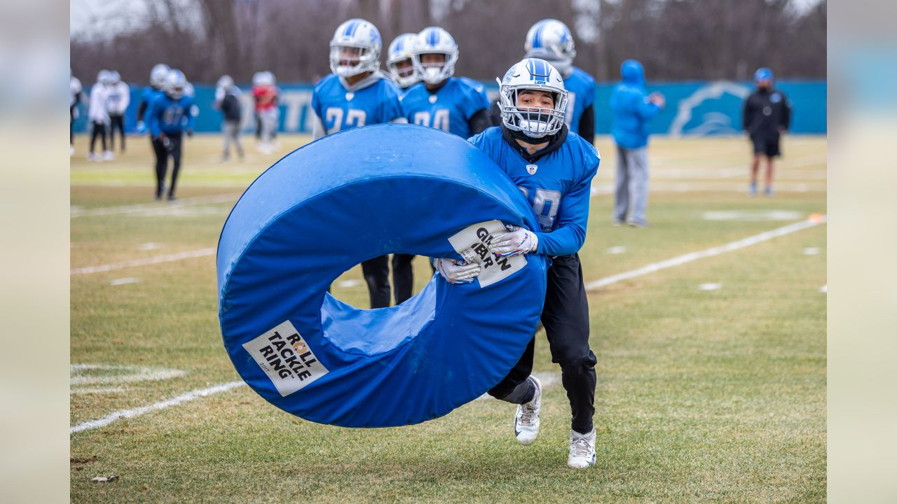Detroit Lions cornerback Michael Ford (38) during practice at the Detroit Lions training facility on Thursday, Dec. 27, 2018 in Allen Park, Mich. (Detroit Lions via AP)