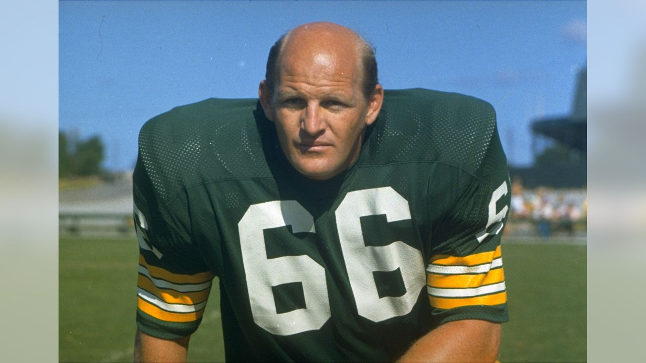 Linebacker Ray Nitschke (66) of the Green Bay Packers poses in a 1973 photo. (AP Photo)