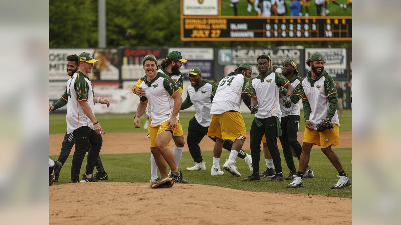 Scenes from the Green and Gold Charity Softball Game at Fox Cities Stadium in Appleton on Saturday, June 1, 2019.