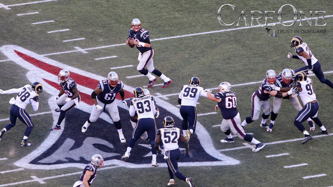 The Patriots and Rams have meet 13 times, with New England holding an 8-5 edge in the all-time series, including one playoff match up. Here's a look back at some memorable moments from those games.