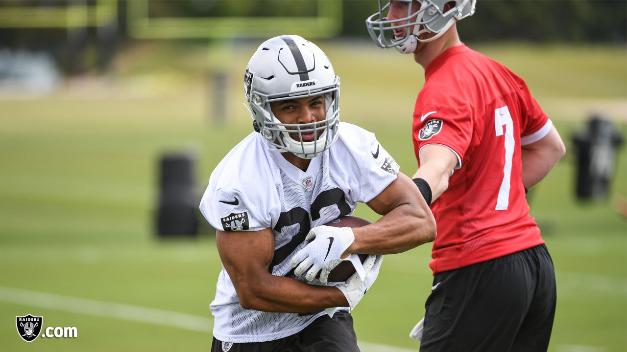 Raiders running back Doug Martin (22) at an Organized Team Activity (OTA) at the Raiders Practice Facility in Alameda, Calif.