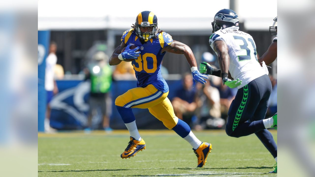 2016 - RB Todd Gurley in Los Angeles Rams throwbacks 2c15238a1