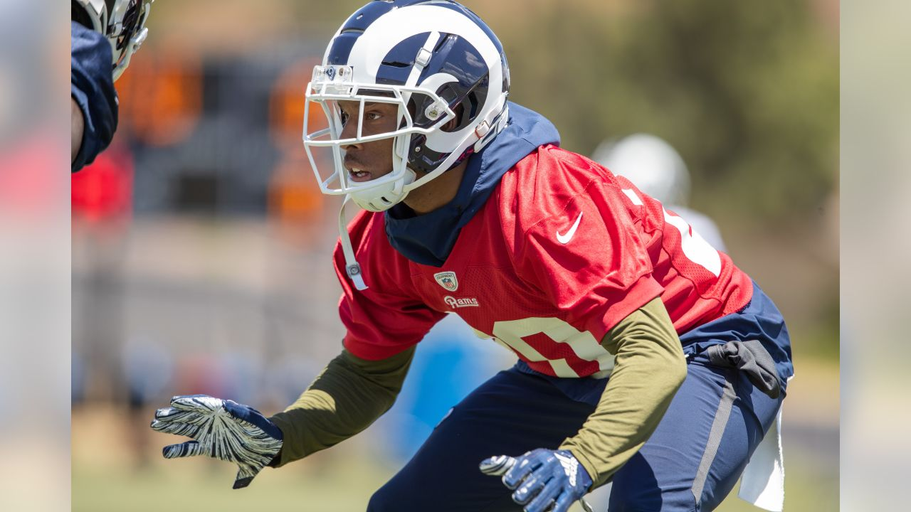 Defensive back (20) Troy Hill of the Los Angeles Rams practices during OTA's, Monday, May 20 2019, in Thousand Oaks, CA. (Jeff Lewis/Rams)