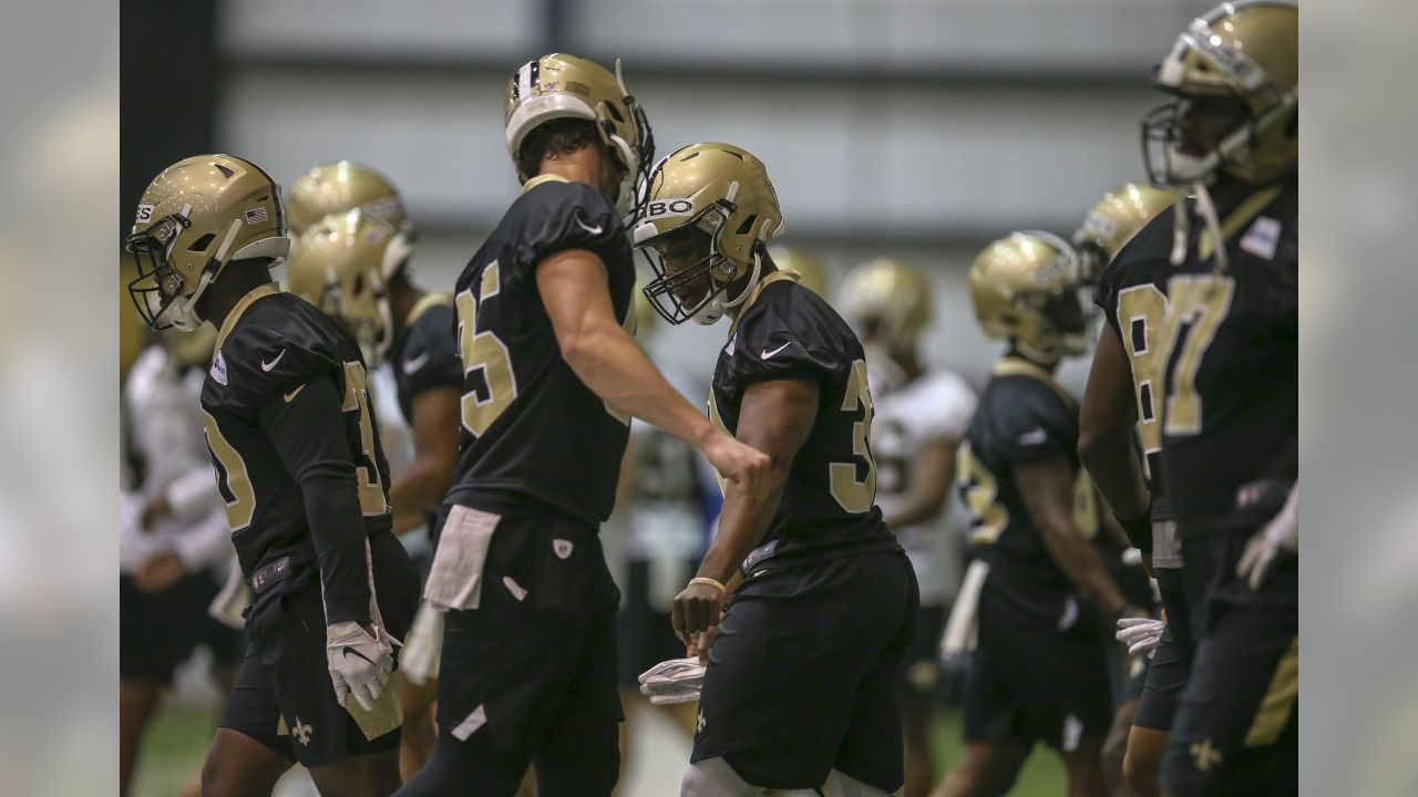 METAIRIE, LA - JUNE 04: New Orleans Saints practice during OTA's on June 4 at Ochsner Sports Performance Center in Metairie, Louisiana.