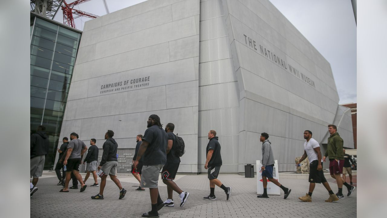 The New Orleans Saints visit the WWII Museum in honor of the 75th Anniversary of D-Day on June 5, 2019.