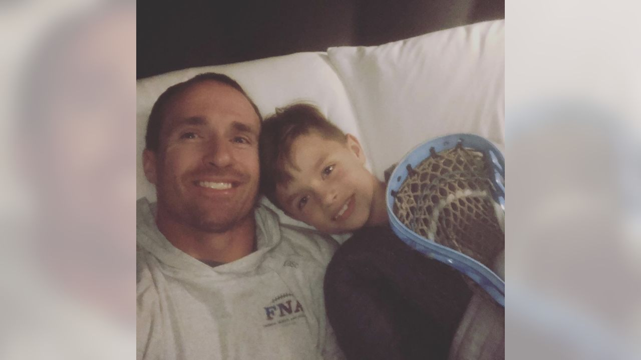 [**Drew Brees:** Big LAX game tomorrow..Semi Finals..Bay Bay is sleeping with his lacrosse stick for good mojo](https://www.instagram.com/p/Bxgi4ahnRp7/?utm_source=ig_web_copy_link)