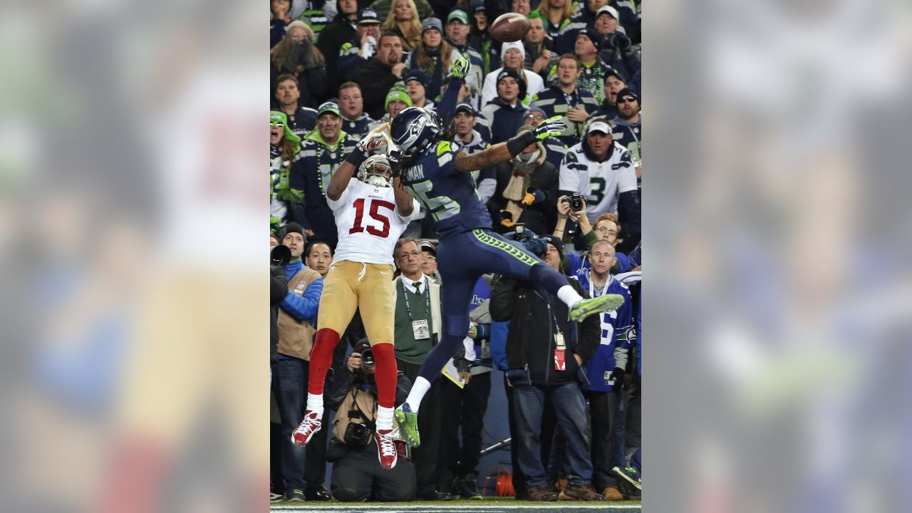 Seattle Seahawks  Richard Sherman (25) tips a pass in the end zone intended 36f112dd4