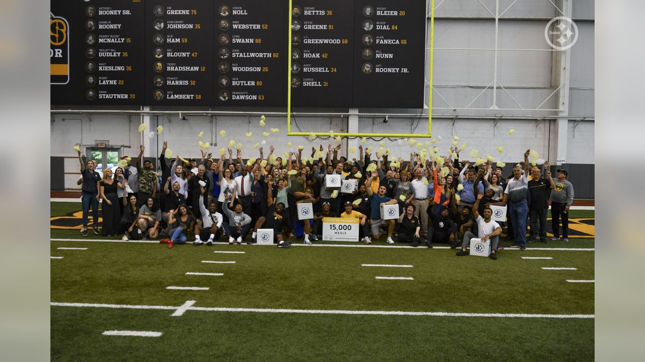 As part of the NFL 100, Steelers' players, coaches, and staff packed 15,000 meals for Feeding Children Everywhere.