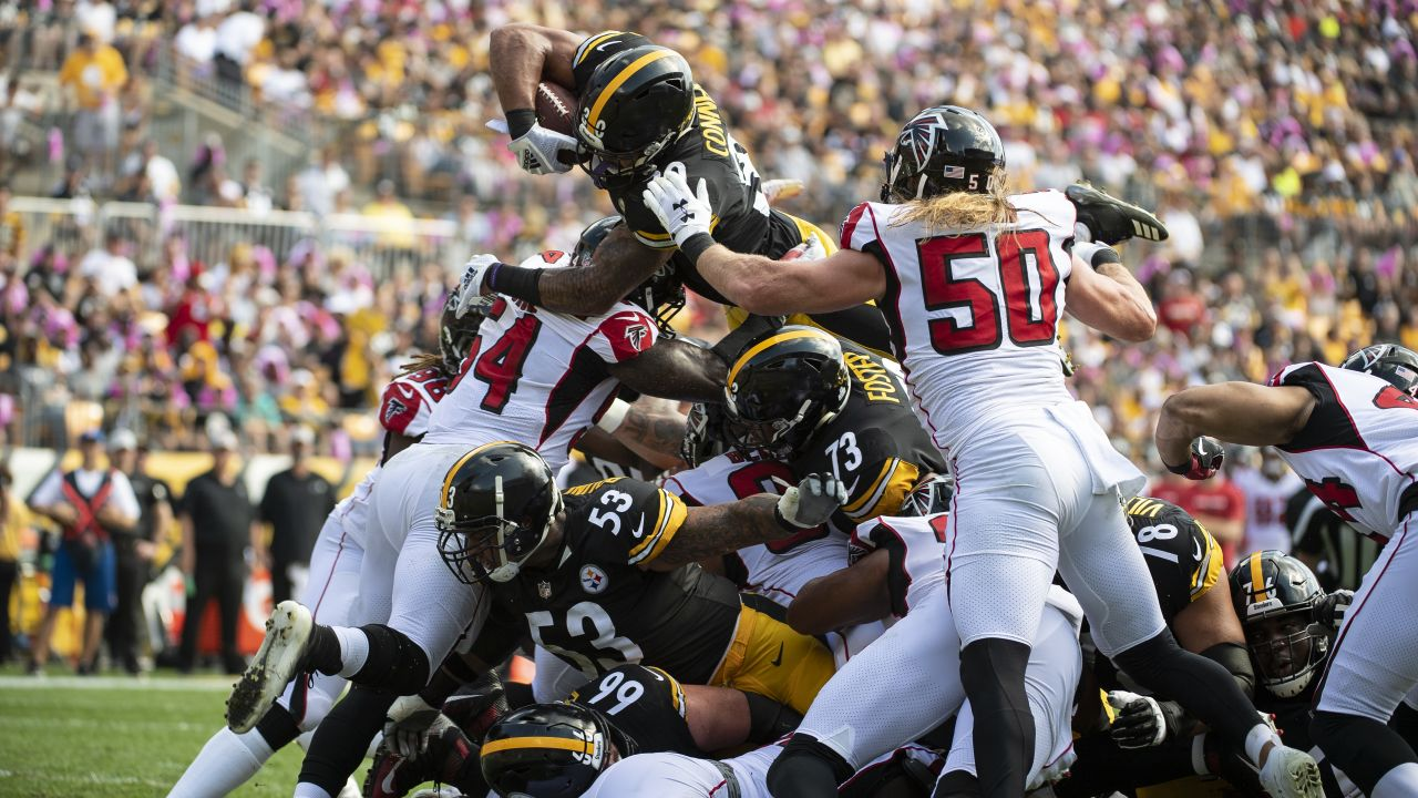 A 2018 Regular Season game between the Pittsburgh Steelers and the Atlanta Falcons on October 7, 2018. The Steelers defeated the Falcons 41-17.