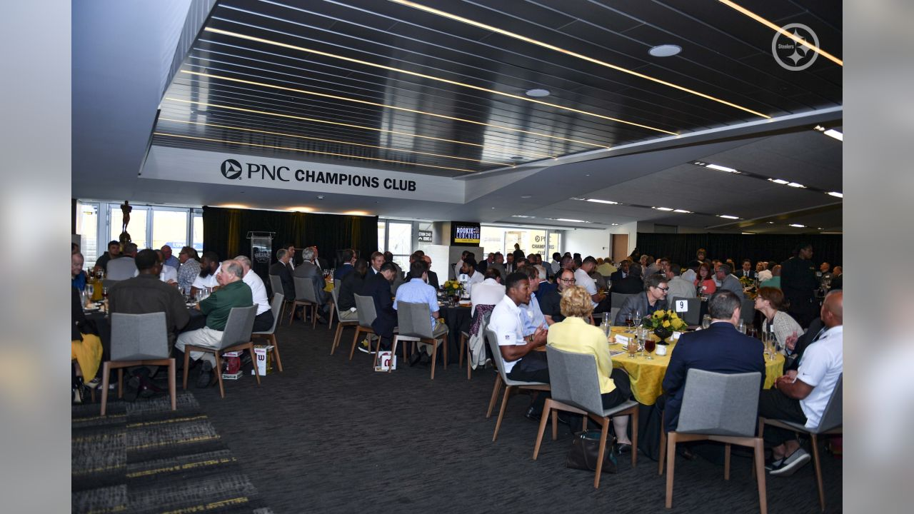 Steelers' rookies and coaches attended the annual Rookie Luncheon sponsored by PNC.