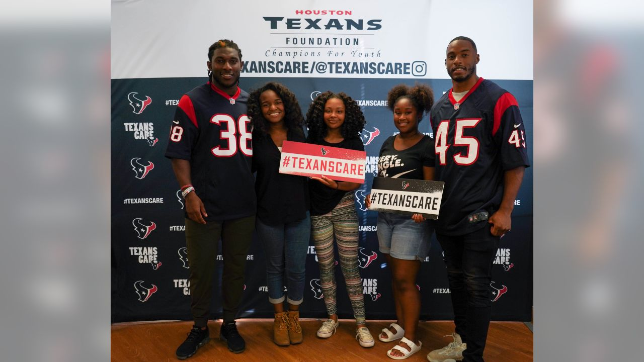 An image from the May 16, 2019 Texans Teen Club Graduation community development event.
