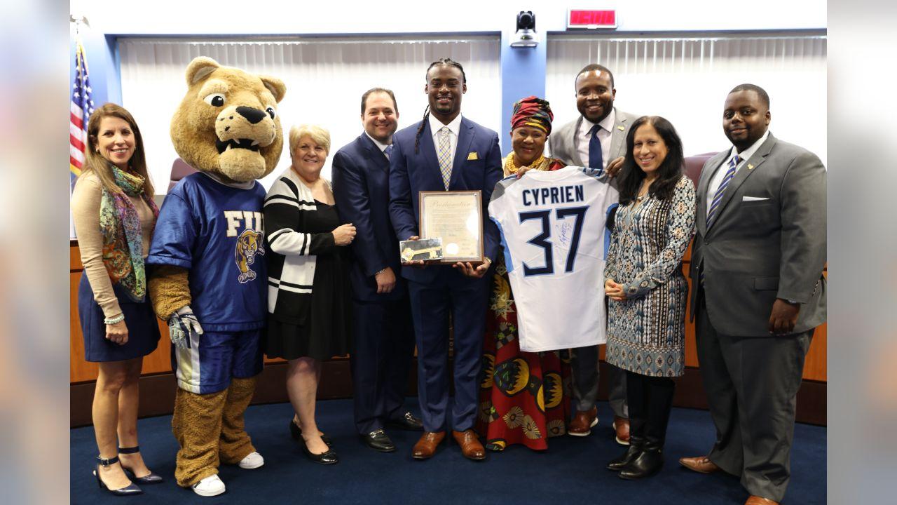 City Commission + Jonathan with FIU Mascot + Key + Proclamation
