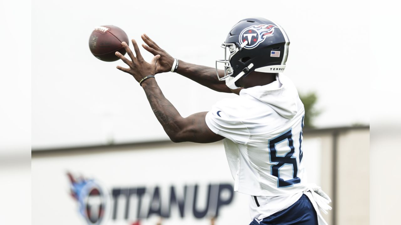 NASHVILLE, TN - JUNE 04, 2019 - Corey Davis #84 of Tennessee Titans during OTA practice in Nashville, TN. Photo By Donald Page/Tennessee Titans