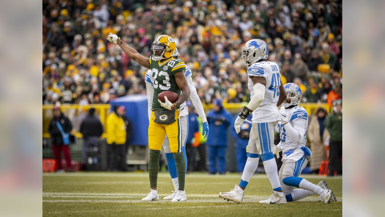 Green Bay Packers against the Detroit Lions during a regular season game at Lambeau Field in Green Bay on Sunday, December 30, 2018.