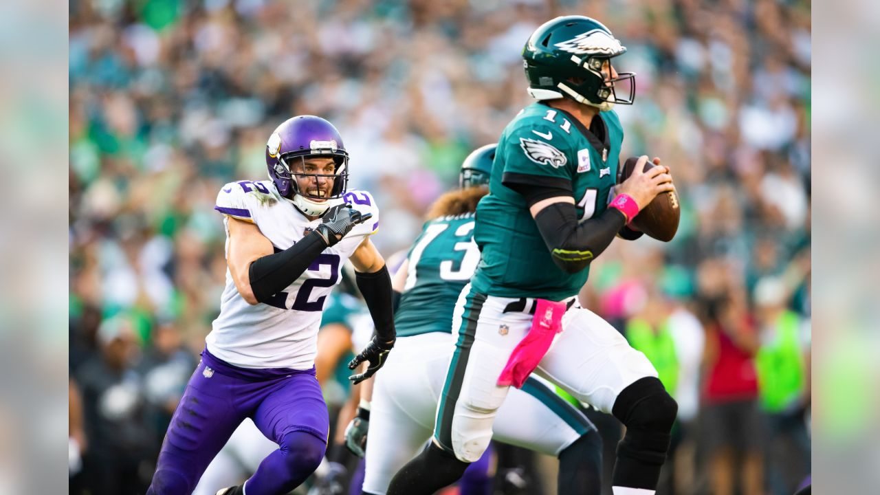 An image from October 7, 2018 regular season away game against the Philadelphia Eagles. The Vikings won 23-21.