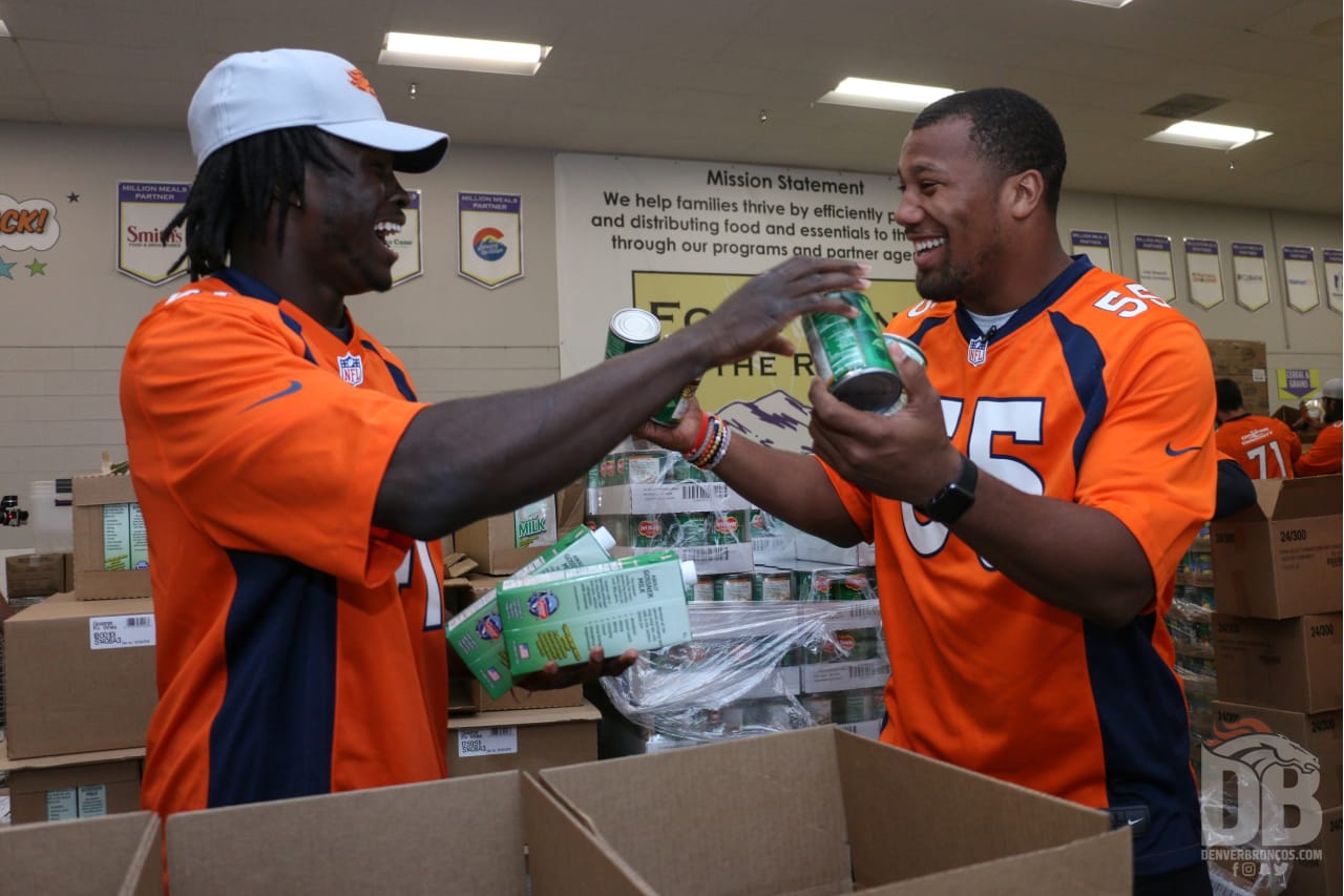 Broncos Rookies Get Acclimated To Denver With Day Of Service