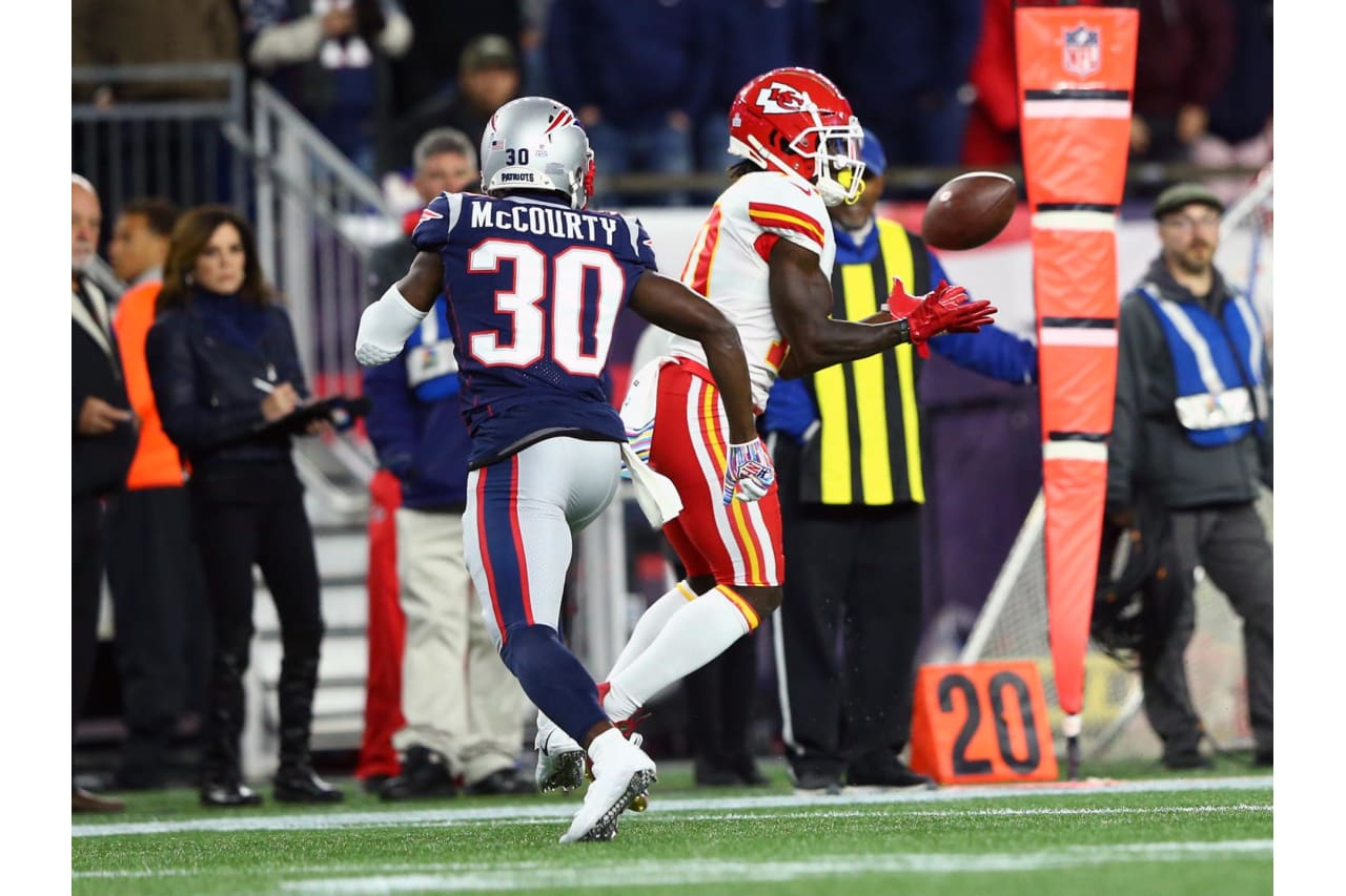 Kansas City Chiefs at New England Patriots at Gillette Stadium on October 14, 2018