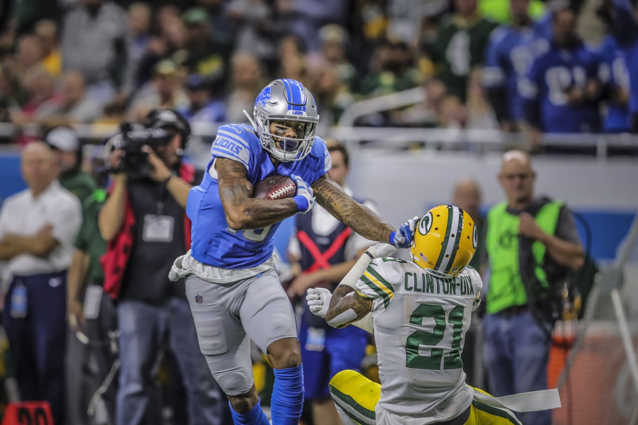 Detroit Lions wide receiver Kenny Golladay (19) during a NFL football game against the Green Bay Packers on Sunday, Oct. 7, 2018 in Detroit.