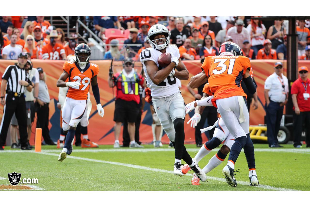 The Oakland Raiders regular season game against the Denver Broncos at Mile High Stadium, Sunday, September 16, 2018, in Denver, Colorado.