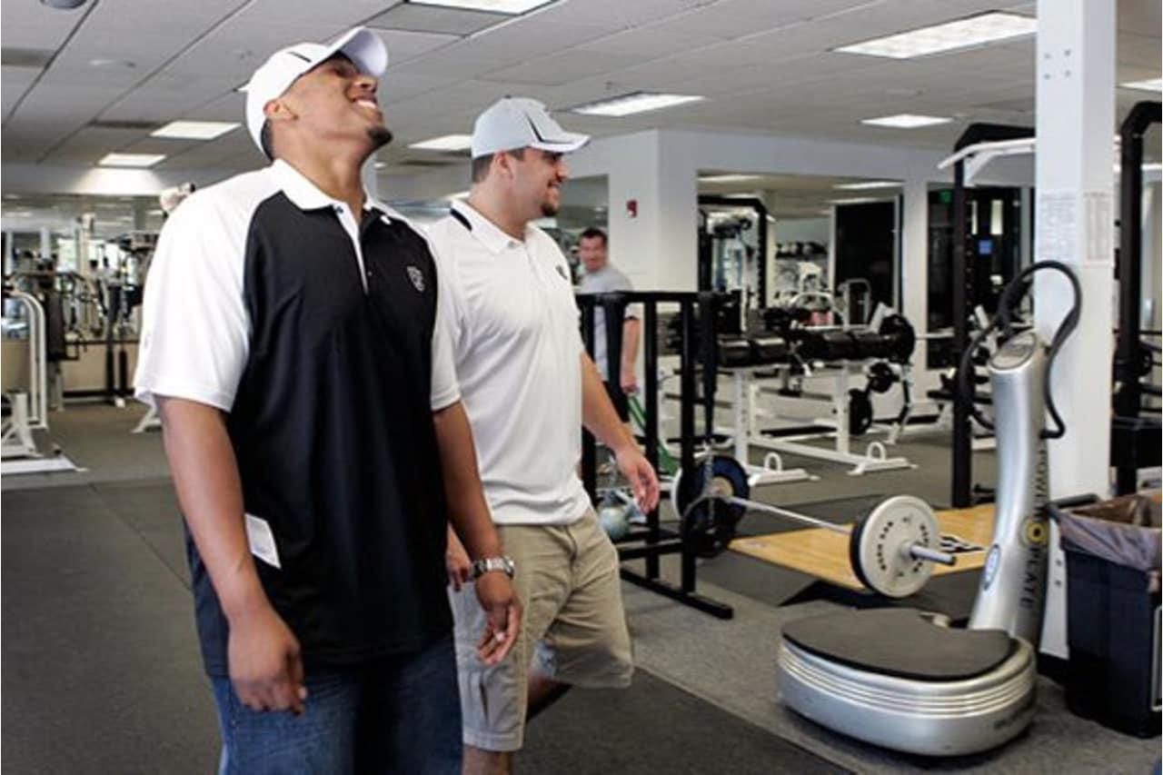 Raiders second round selection C Stefen Wisniewski and third round  selection OT Joseph Barksdale check out a76cbf23e