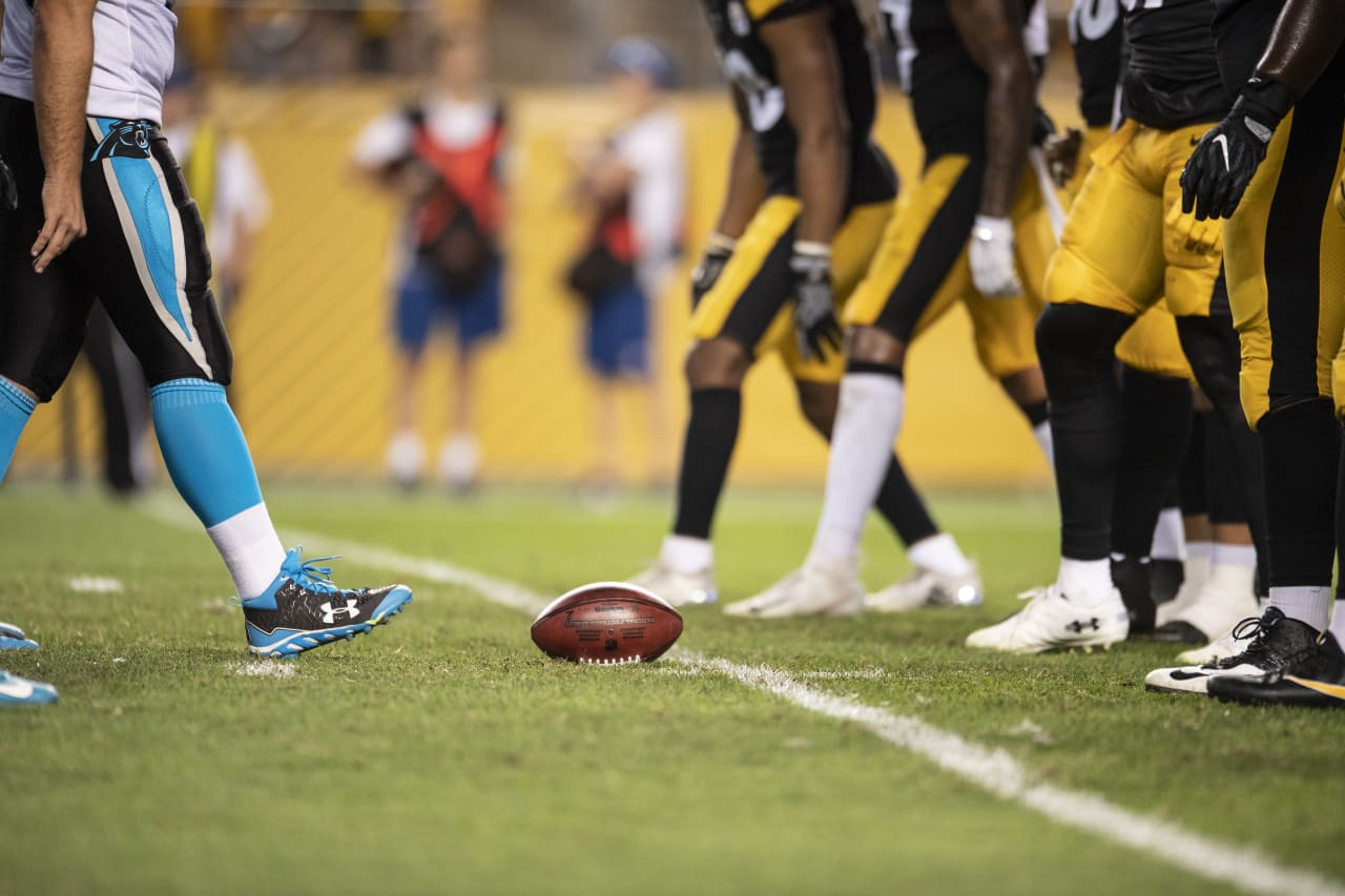 A 2018 Preseason game between the Pittsburgh Steelers and the Carolina Panthers on Thursday August 30th 2018.