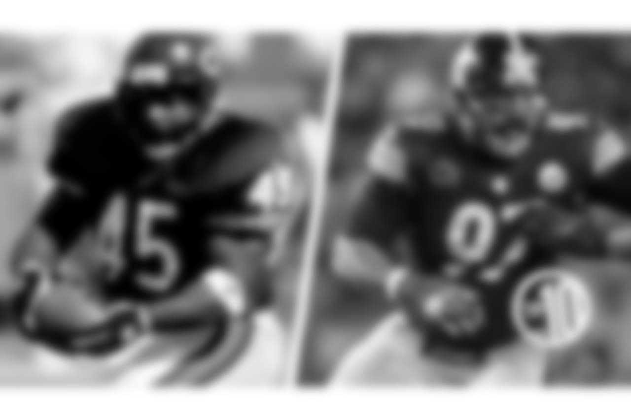 "10. Craig and Cameron Heyward  A huge running back nicknamed ""Ironhead,"" Craig spent one season with the Bears in 1993, while his son Cameron is a defensive end entering his ninth year with the Steelers."