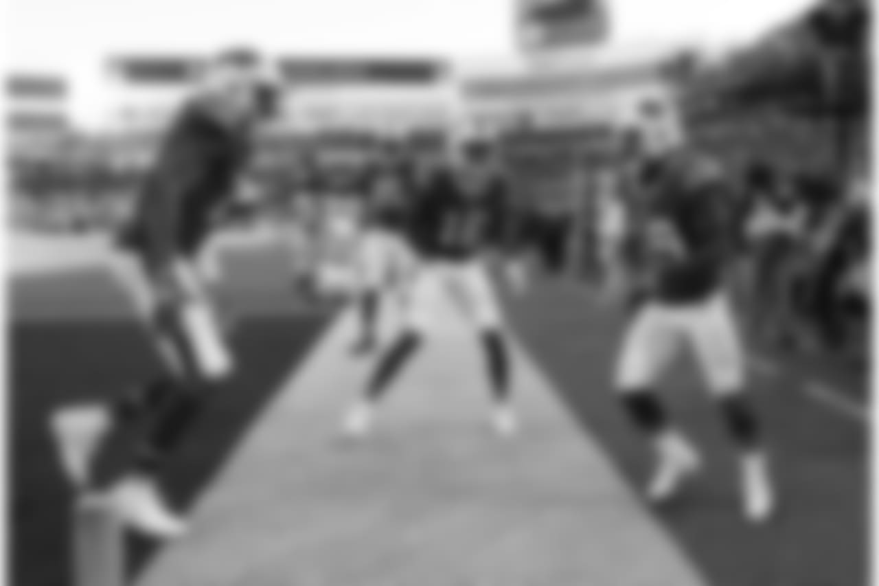 Buffalo Bills wide receiver Isaiah McKenzie (19) touchdown  celebration -   Buffalo Bills vs New York Jets at New Era Field, December 9, 2018.   Photo by Bill Wippert